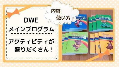 DWEのメインプログラムとは?教材の内容と使い方を写真で解説